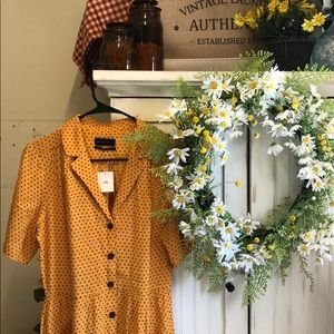 Urban outfitters polka dot midi dress